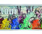 Vintage LE TOUR Cycliste Coureurs Cyclists set MIB Jouets Bonhanza Toys 1970's Bois Set