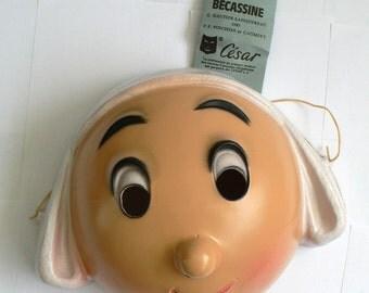 Vintage MASK Masque César BECASSINE 1980's
