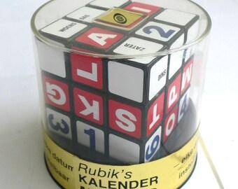 Vintage RUBIKS Rubik's Puzzle Game CALENDAR Kalender Model MIB 1980's Rare