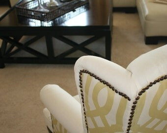 Citrus Wing Back Chair