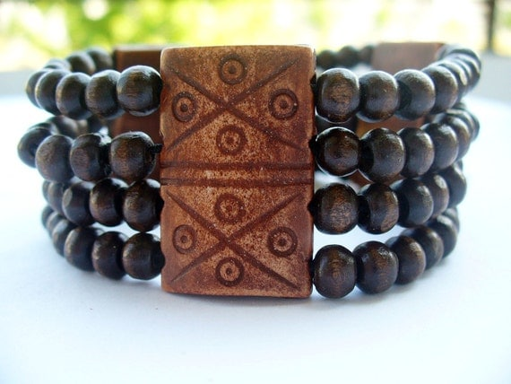 Fashion Brown Wooden bracelet,Fashion Multi-strand stack bracelets with brown beads,handmade jewelry