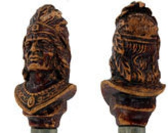 Syroco Wood Figural Bottle Opener / Cap Lifter of an Indian Chief Head