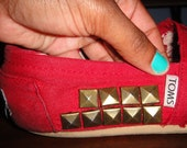 Studded TOMS shoes