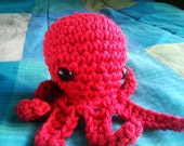 Crochet Octopus - Chili Red
