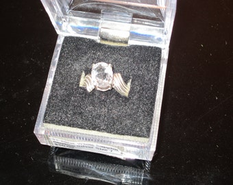 White Sapphire Sterling Ring