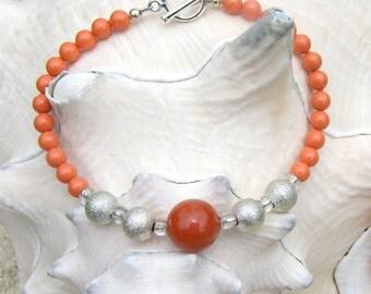 Swarvoski orange beaded bracelet - The Anne Bonny