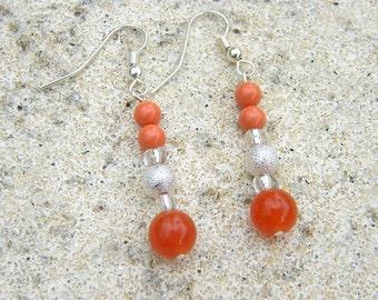 Orange Beaded Earrings - The Anne Bonny