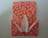 10 Origami envelope colorful chiyogami Crane envelope small coin or messageenvelopes