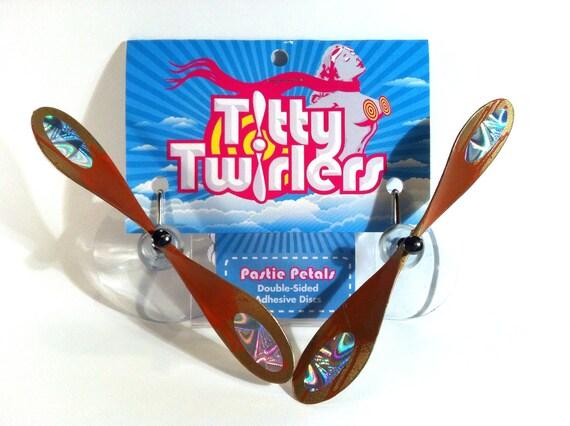 Titty Twirlers - Propeller Pasties - Orange/Gold