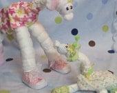 2 Diaper Giraffes - CUSTOM MADE Big & Baby Diaper Animals, Baby Shower Decoration, Mom to Be Gift, Nursery Decoration