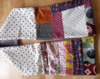 Patchwork of Liberty and polar fleece scarf