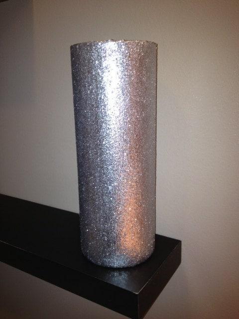 Silver Cylinder Vase Home Decor Or Wedding Decor