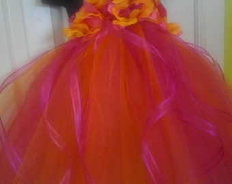 Create your own Princess Flower girl Tutu Dress with matching hairpiece...pick any two colors NB-24m