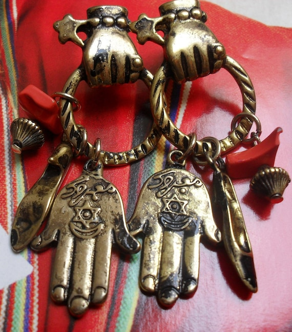 Vintage Earrings With Charms ON SALE