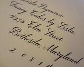 Custom Copperplate Calligraphy