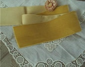 """Vintage Rayon Luxurious 1940s French 2"""" velvet ribbon sold by the yd"""