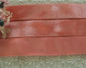 """All Rayon Luxurious 1940s French 7/8"""" velvet ribbon sold by the yd"""