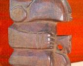 WOOD Carving SCULPTURE, GUATEMALA 1950s,Quetzaltenango