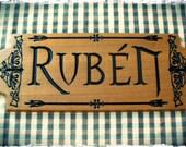 Door Sign Wood Carved