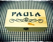 Custom carved wooden box