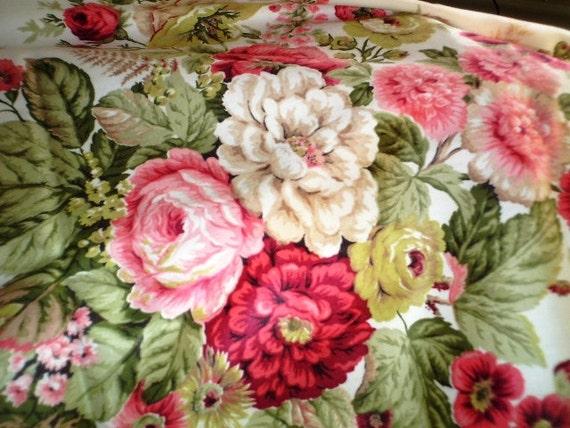 floral fabric remnant Waverly 'Darlington'
