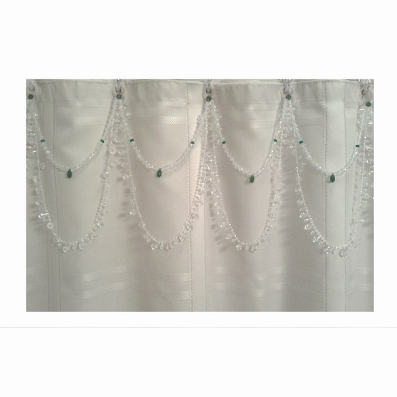 Shower Curtain Bling crystal and green  'On Sale Now'
