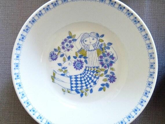 ON HOLD for ARWEN 1960s Set of 8 Turi Gramstad Oliver Lotte Cereal Bowls, Figgjo Norway