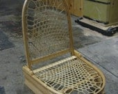 Foldable, Portable, Wood and Rawhide Canoe Seat
