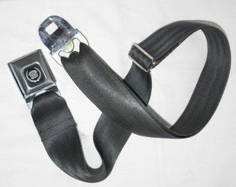Dark Grey Cadillac Buckle-Up Belt