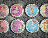 Set of 8 Fancy Nancy Dresser Drawer Knobs