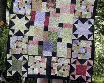 Handmade Garden Path Quilt Blanket