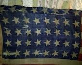 A very Rare flag Made by Hosrtmann of Philadelphia 40 star