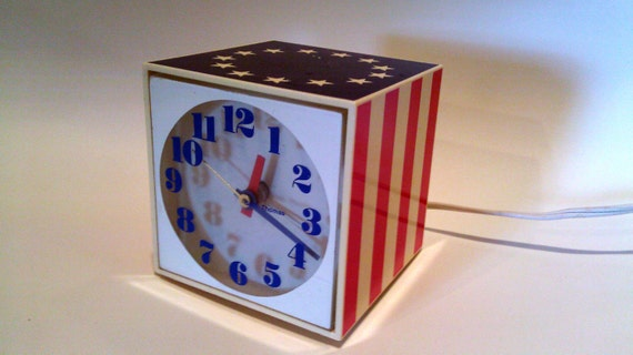 Seth Thomas Flag Clock