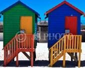 10x10 Fine art Prints - Beach Huts, Muizenberg Beach, Cape Town, South Africa