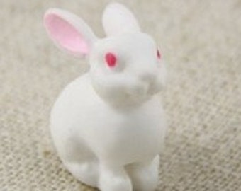 25 pcs of resin bunny cabochon flat can glue 15m height