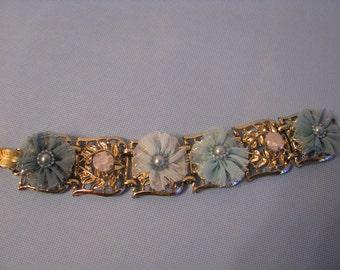 Shabby Chic Blue Bracelet