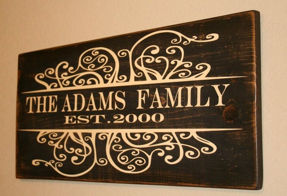 Family Est Sign, Est Family Signs, Custom Wood Sign, Family Established Home Signs,  Personalized Family Established,
