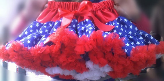 Patriotic 4th of July Petti Skirt