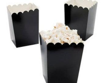 24 Mini black popcorn boxes treat favors