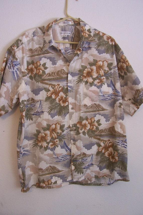 Pierre Cardin Vintage Hawaiian style shirt. XL