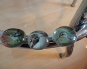 Three BIg Hummingbird Glass Pebble Magnets