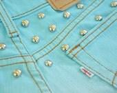 SALE: Sky blue ombre cut off shorts