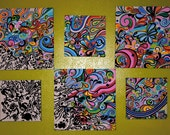 Original Psychedelic Abstract 6-series Painting by Clare Horne