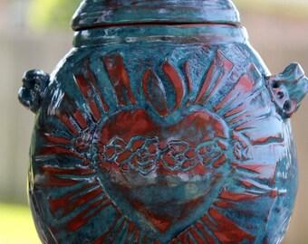 Sacred Heart Prayer Jar