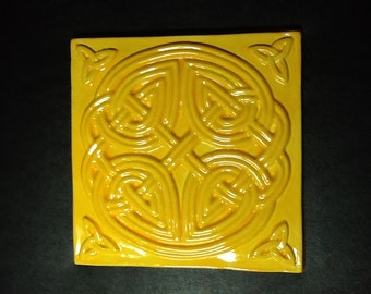 Celtic Knot Ceramic Tile Trivet