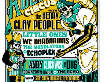 Henry Clay People - RNR Circus - Screenprinted Gigposter