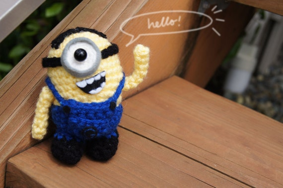 Amigurumi Minion Etsy : Small Crochet Minion Amigurumi from by MyBackyardMonsters ...