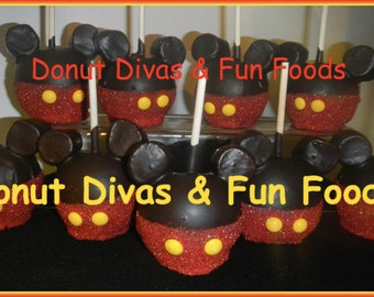 Mickey Mouse Apple in red or blue- Edible Party Favors