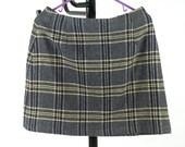 Blue plaid Mini-Skirt (sz 14)- Vintage, late 80's early 90's Never Worn