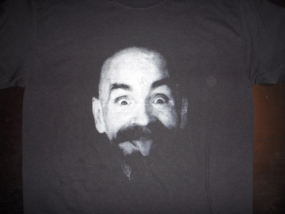 Charles Manson shirt  Punk (FREE SHIPPING in USA only) Helter Skelter Off The Pigs